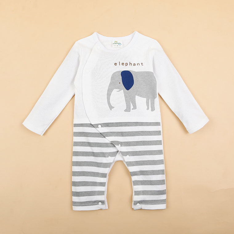 HTB1VbpSKFXXXXaBXVXXq6xXFXXXD - 100% Cotton Baby rompers legged long sleeves baby clothing newborn cartoon Elephan Giraffe baby boy clothes girls roupas bebes
