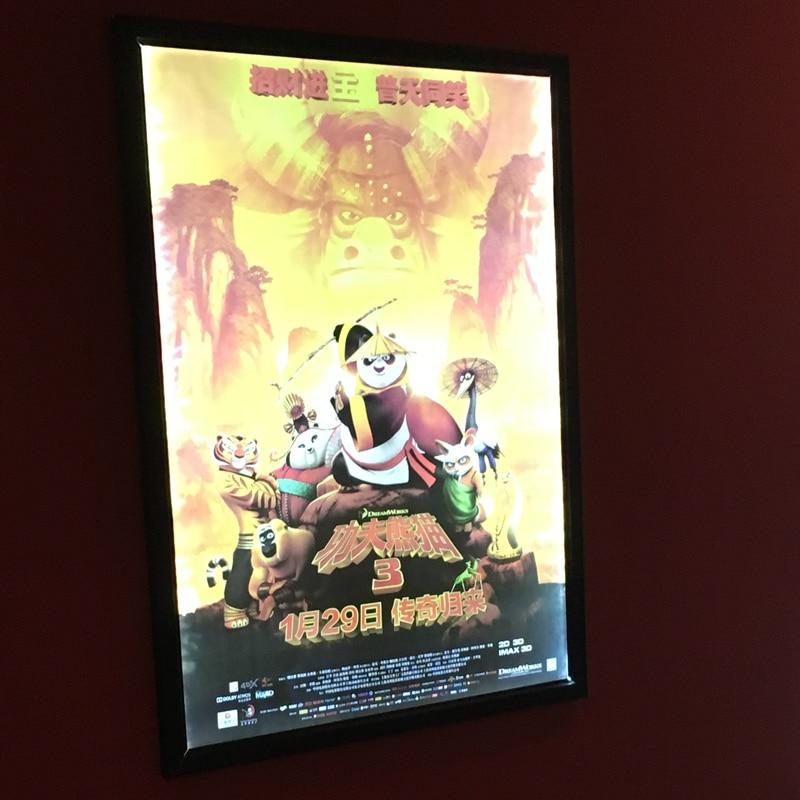 Custom LED Lighting Movie Poster Snap Frame,Single Sided Black ...