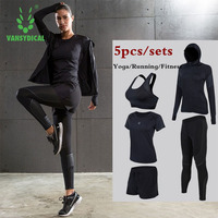 Women Yoga Running Suits Clothes Sports Set Jackets Shorts And Pants Bra Joggers Gym Fitness Compression