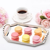 Cake decorating plate Dessert tray with beads Octagon Snack tray Fruit plates wedding decoration cake tools