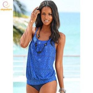 Image 1 - 2020 ชุดว่ายน้ำ Tankini ผู้หญิง Retro ชุดบิกินี่ชุดว่ายน้ำบราซิลชุดว่ายน้ำ VINTAGE ชุดว่ายน้ำเอวสูงชุด Tankini Beachwear