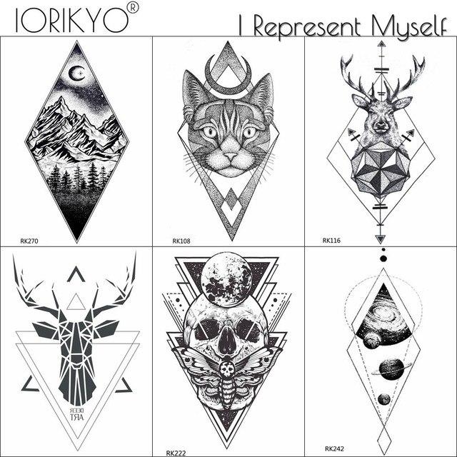 Tatuaje Temporal Iorikyo Calcomanías De Tobillo Para Hombre Para