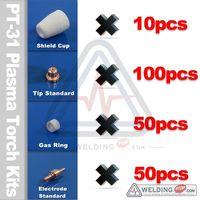 210pcs PT 31 LGK40 Cut40 50 Air Plasma Cutter Cutting Torch Consumables Kits