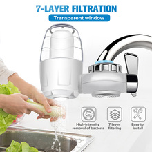 7 Layer Tap Water Purifier Clean Kitchen Faucet Mount Washable Ceramic Percolator Water Filter Filtro Rust Bacteria Removal