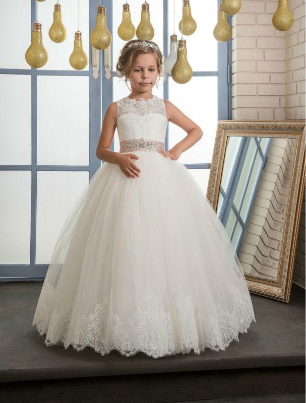 Blume Mädchen Kleider Für Hochzeit Kleid Tüll Kinder ...
