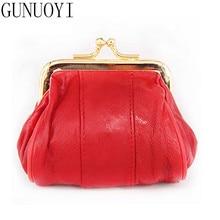 GUNUOYI Women Genuine Leather Coin Purse Multi-Function Mini Purse Coin Wallet Bag Female Hasp Change Wallet  LQ9035