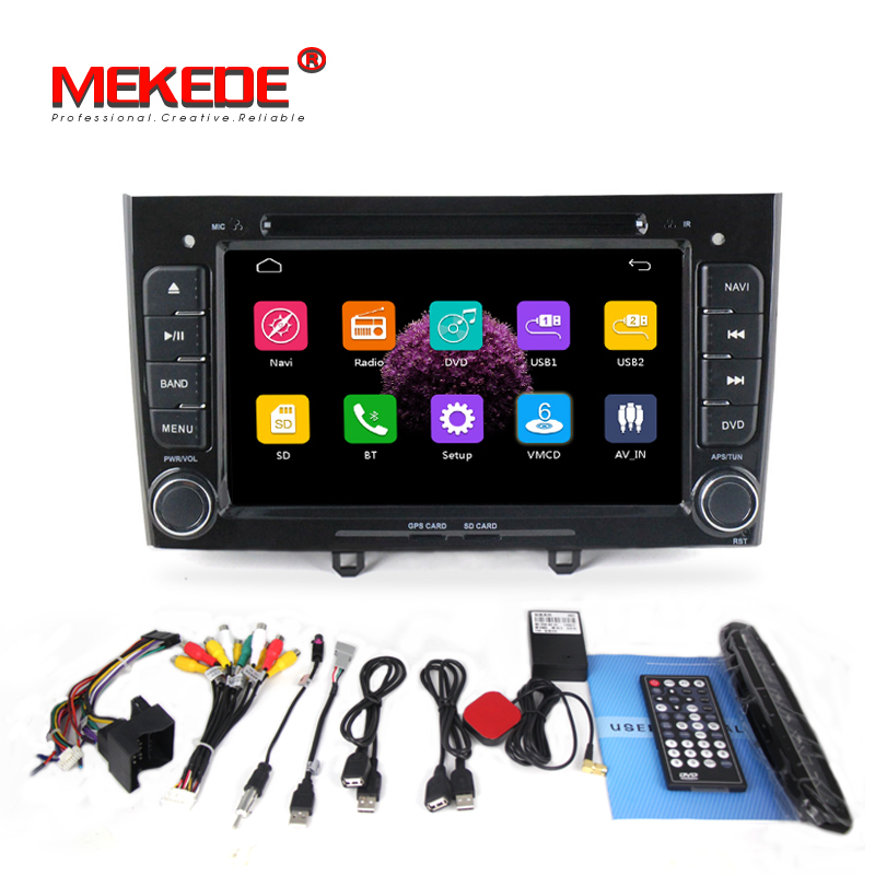 capacitive screen 2din in dash font b Car b font DVD Stereo Navigation for Peugeot 408