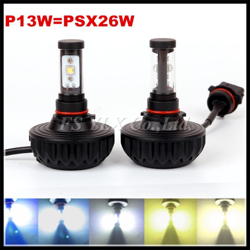 ФОТО 60W 6000LM  New Gen LED Headlight Conversion Kit P13W PSX26W Car Replacement Fog Head Light Lamp White
