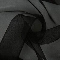 5ミリメートル140センチ生糸メッシュ生地100%桑絹21 gsmスキンブラックレッドブルー色10メートル小さな卸
