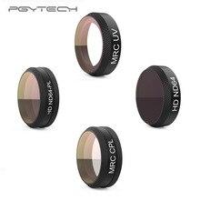 Pgytech filtro para câmera dji mavic air, MRC UV nd64 nd64pl MRC CPL, acessórios para drones dji mavic air