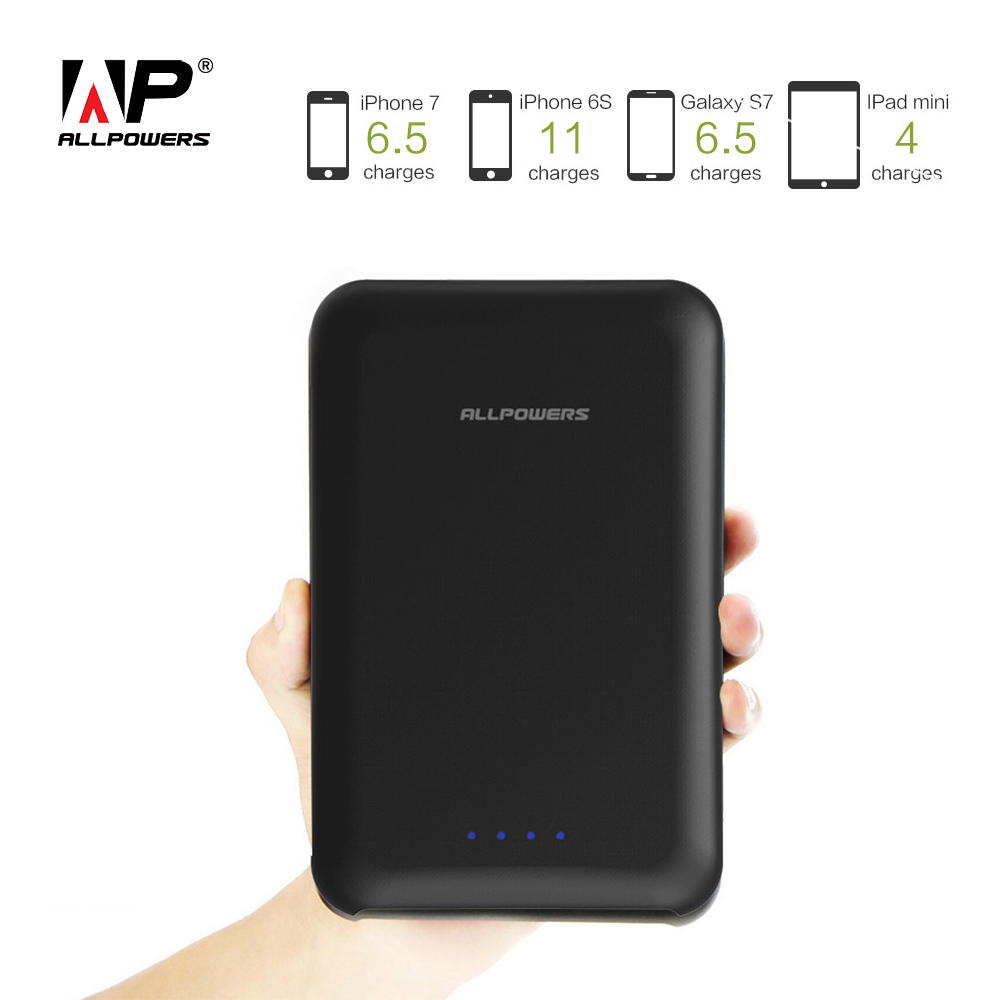 ALLPOWERS Hohe Kapazität 30000 mah Power Bank Schnell Lade Tragbare Ladegerät Externe Batterie für iPhone 6 6 s 7 8 8 s Samsung