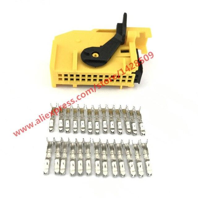 1 Set 26 Way/Pin ECU Automotive Connector 185879-1 Wiring Harness Connector Auto Plug