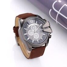 V6 montre hommes montre top marque militaire sport montres en cuir hommes de montre horloge à quartz montre relogio masculino erkek kol saati
