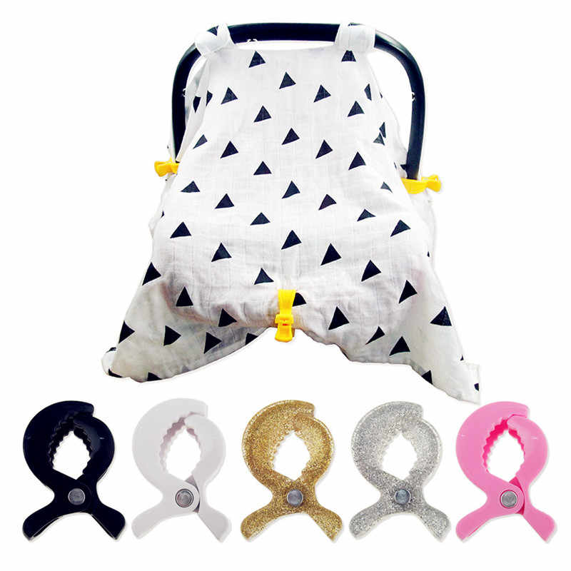 1 Pza accesorios para asiento de coche de bebé silla de paseo de plástico colorido Clip de cochecito de juguete pinza para gancho cubierta de mosquitera Clips de Manta