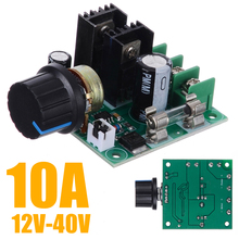 Adjustment DC Motor Speed Controller 12V-40V 10A PWM Electrical Motor Speed Controller Dimmer Voltage Regulator with Knob dc12 60v 10a rotary adjustable potentiometer knob pwm motor speed controller page 2