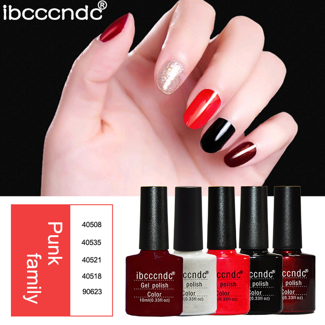 Manicure Nail Art Design Set 5pc Gel Nail Polish Varnishes Dark Color Series UV Gel Vernis Semi Permanent Hot Sale Nails Lacquer
