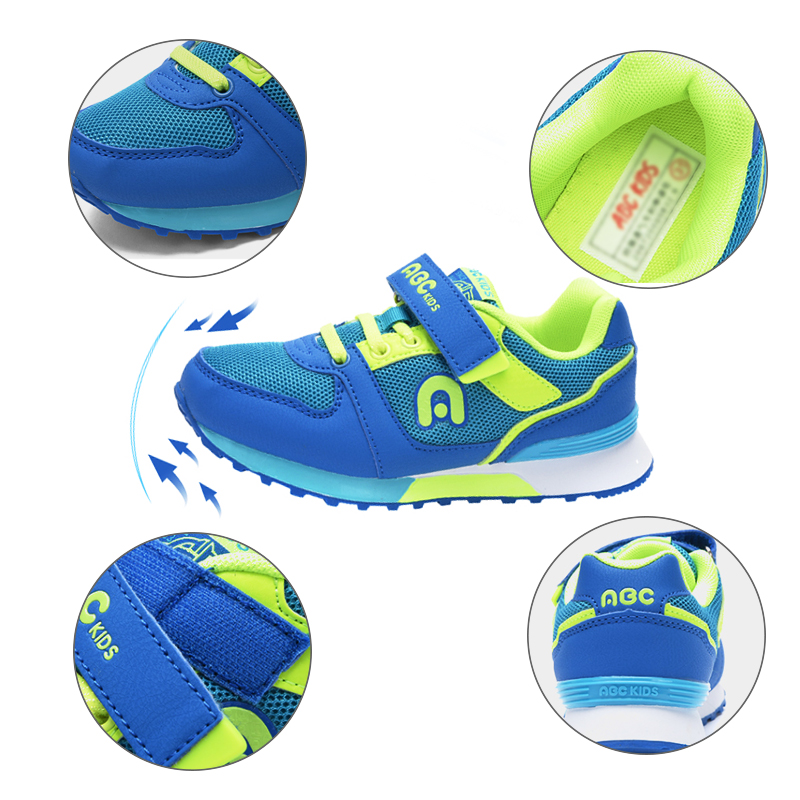 ABC enfants enfants chaussures décontractées à la mode Net respirant garçon fille semelle souple sport baskets - 3