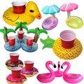 Lindo Flotante Inflable Flamingo Bebida Puede Titular Del Teléfono Celular Soporte de la Piscina de Natación de Baño Playa Fiesta Kids Toy Bath Toy