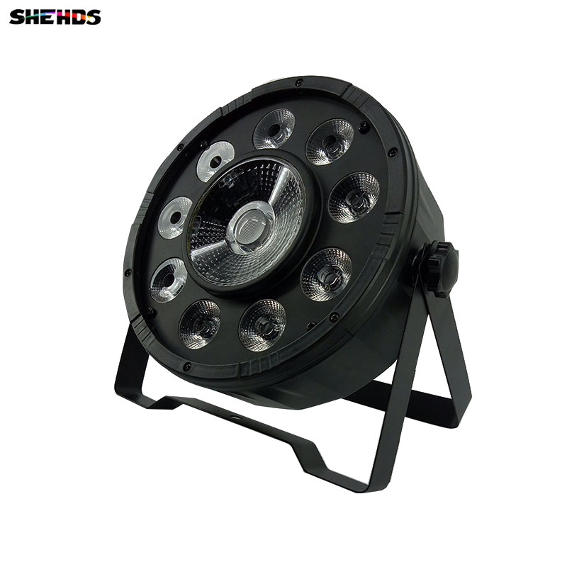 Transporti i shpejtë LED i sheshtë para 9X10W + 1X30W Digit Led Disco Light RGB 3IN1 LED Faza e Dritës LED DJ DMX Led Par Par Lights
