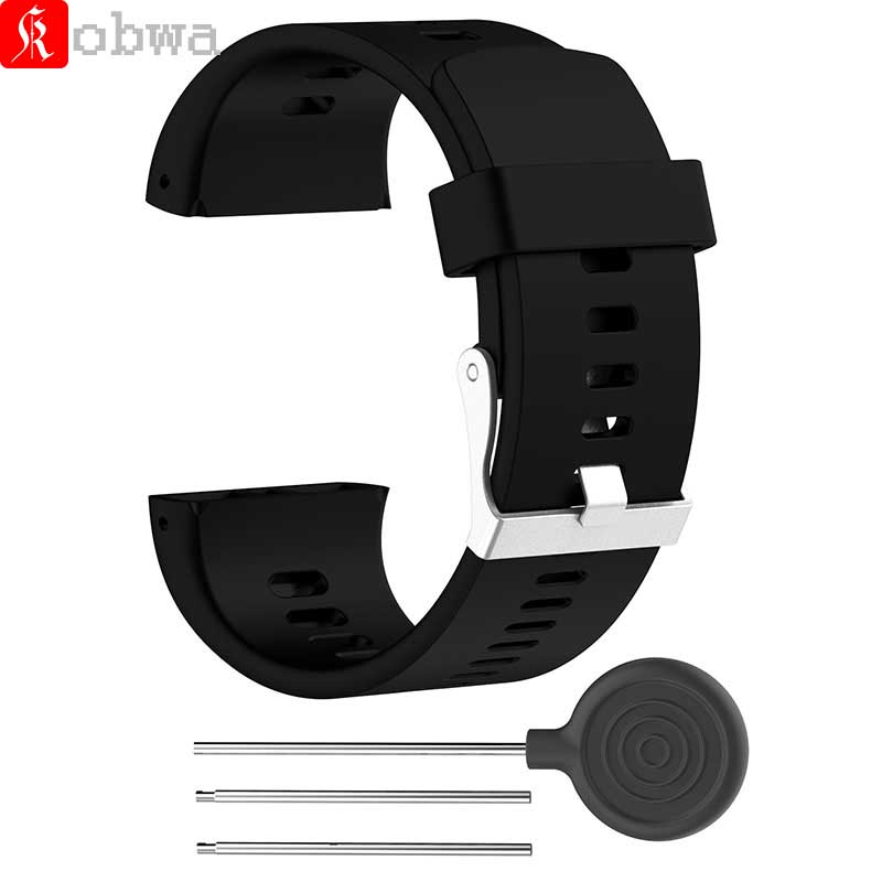 Kobwa Silicone Watch Band For Polar V800 Smart Bracelet With Tool Smart Watch Strap For Men Women Watchband For Polar V800
