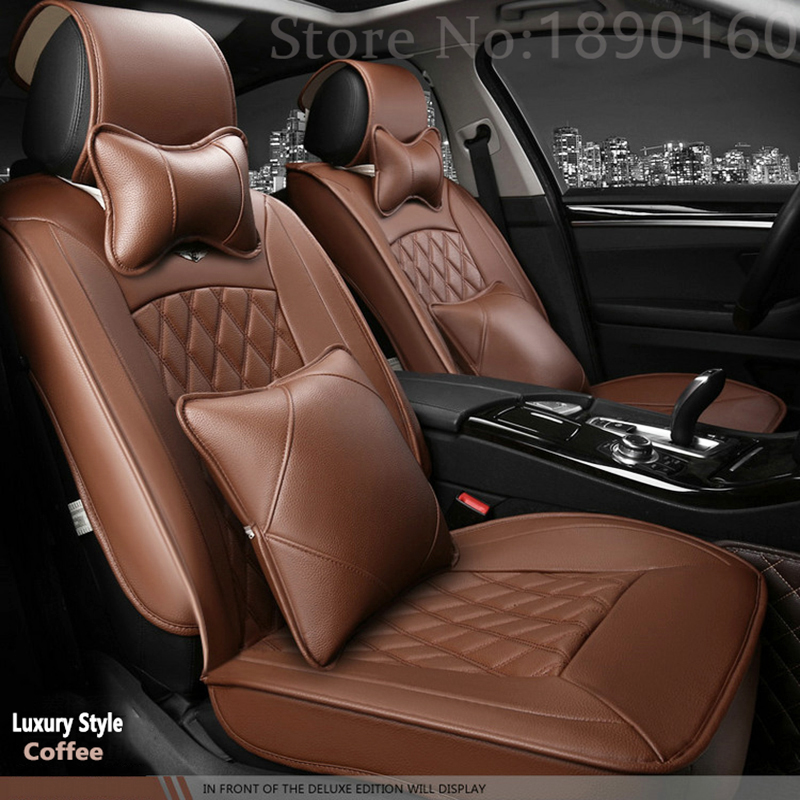 High Quality Special Leather car seat covers for cadillac All Models escalade accessorie for car cushion cover seat &neck