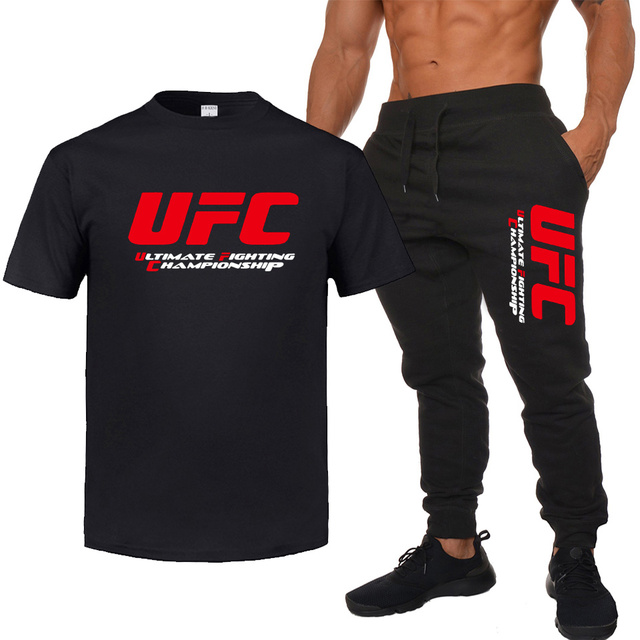 Loose casual cotton t-shirt UFC print MMA t-shirt Men/Women hip hop casual funny Ultimate Fighting Championship Suit Plus size