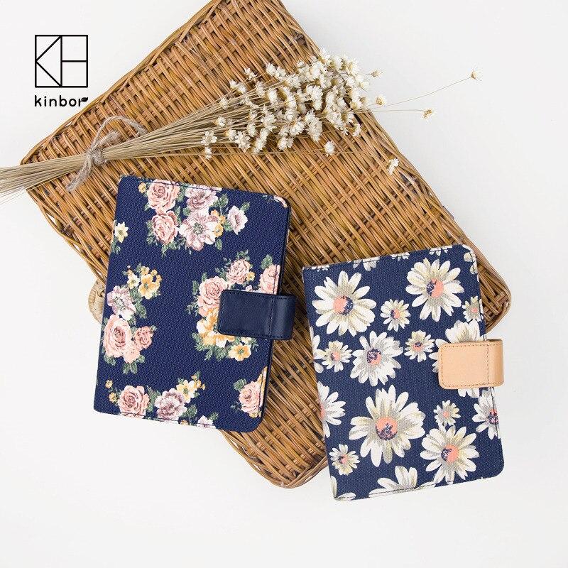 купить kinbor Canvas Flower Daisy A6 Notebook Diary 2017 Planner Organizer with Calender Daily Plan Traveler's Notebook Diary Gift недорого