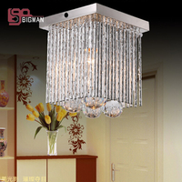 Hot Sales Small Crystal Chandelier Modern Ceiling Fixtures L160 W160 H160mm Lustres Hallway Lights
