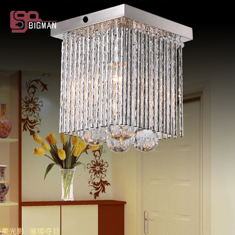 hot sales small crystal chandelier modern ceiling fixtures L160*W160*h160mm lustres hallway lights