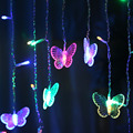 Christmas Lights Natal 104pcs LED Bubbles and 16pcs Romatic Butterfly Christmas Garlands 3 Colors Lights Strings In Stock