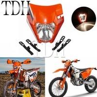 Orange Universal Headlamp Sticker Headlight Mask For 2016 2017 2018 KTM SX EXC XCF SXF SMR Motocross Enduro Dirt Bike Supermoto