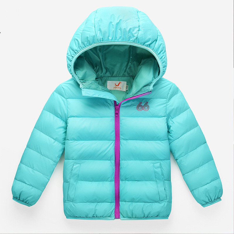 Hot Sale 8 color Hooded Kids Duck down Winter Jacket For Girls and Boys Outerwear Coat