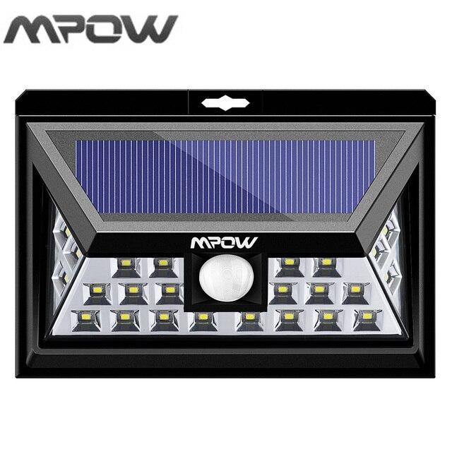 Mpow 24 LED Solar Verlichting Bewegingssensor Outdoor Lampion ...