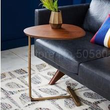 Скандинавский креативный простой овальный диван для гостиной, журнальный столик, уголок для спальни, несколько ленивых прикроватных столиков