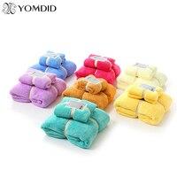 2 teile/los Minimalistischen Handtuch 7 Farben Weichen Qualifizierte Gesicht/Hand/Badetücher 2 Stücke für Familien Baumwolle toalha de banho