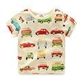 Camiseta de los muchachos Coche de la Historieta Del Verano de Los Muchachos Camisetas Del O-cuello de Manga Corta Camiseta Niños Niños Ocasional Ropa 2296