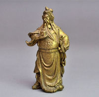 Exquisite Chinese brass Dragon Warrior Guan Gong Statue