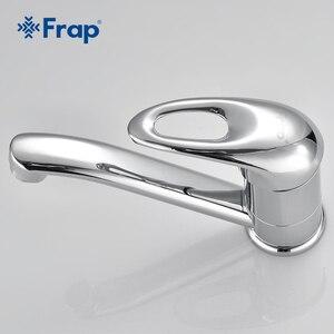 Image 3 - Бесплатная доставка, кухонный кран Frap с одной ручкой, поворот на 360 градусов, хромированная отделка, F4504 F4503 F4556 F4563