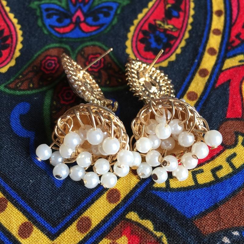 cf91dbd0d India Bollywood Light Jewellery Jhumka Earrings, Zinc alloy Water Droplet  zircon Chandelier Ear Studs India bride Jewellery-in Stud Earrings from  Jewelry ...