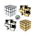 Nova marca Espelho Cubo Mágico ShengShou Escovado Prata & ouro Fundido Revestido Torção Quadrado Cubo Magico aprendizado & educação