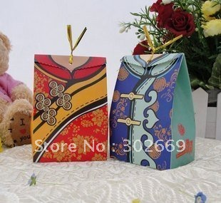 Free shipping factory price chinese tang suit style for Wedding dress shipping box