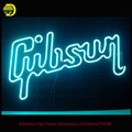 Gibson Guitar Music Neon Urso Artesanais Tubo de Vidro de Lâmpadas de Néon Personalizado Lâmpada Lâmpada de Néon Resistor Lanterna Avize Lâmpada 17X14