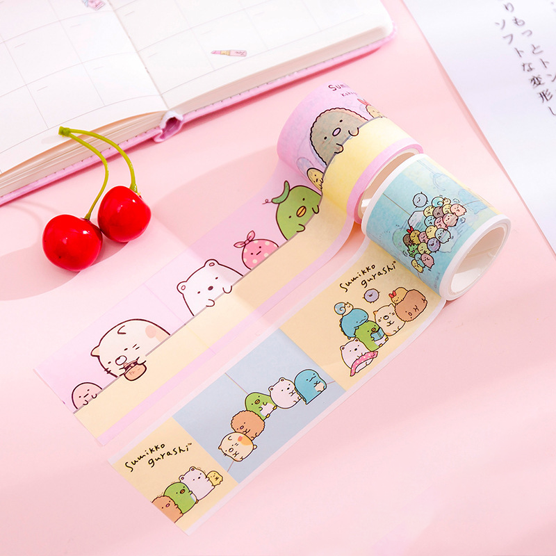 45mm Japanese Sumikko Gurashi Masking Washi Tape Scrapbooking Cartoon DIY Journal Decorative Adhesive Stationery Supplies