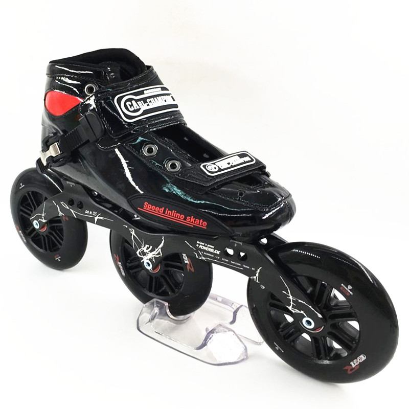 inline speed skating shoes professional women/men inline skates racing shoes adult child skating patins de 3 rodas 3 big wheels professional men s adult ice skates shoes with ice blade black stainless cold resistant