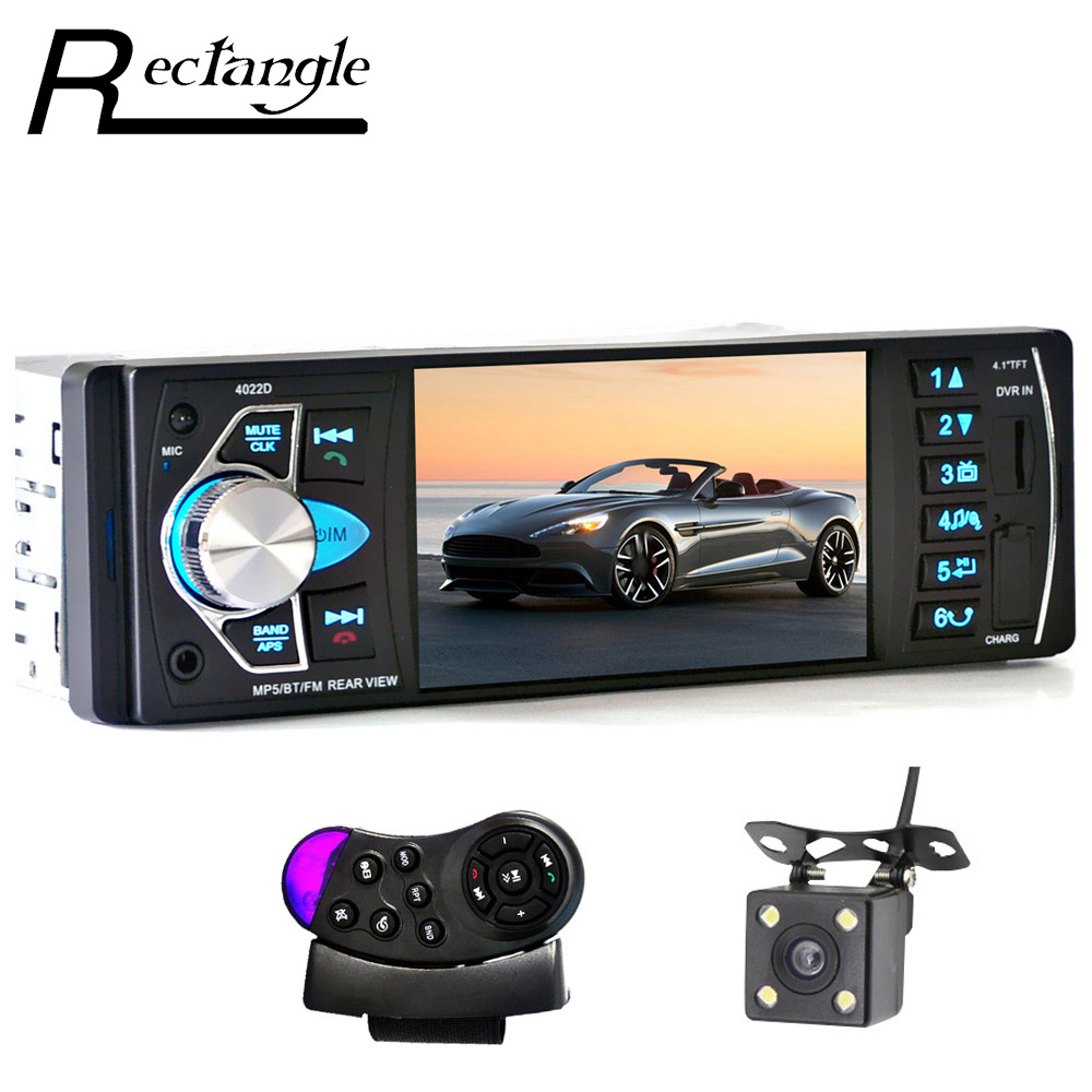 4022D 4.1 Inch 1 Single Din Car MP5 Video Player TFT Screen Stereo Audio FM Auto Remote Control with Rear View Camera mp3 2015 new support rear camera car stereo mp3 mp4 player 12v car audio video mp5 bluetooth hands free usb tft mmc remote control