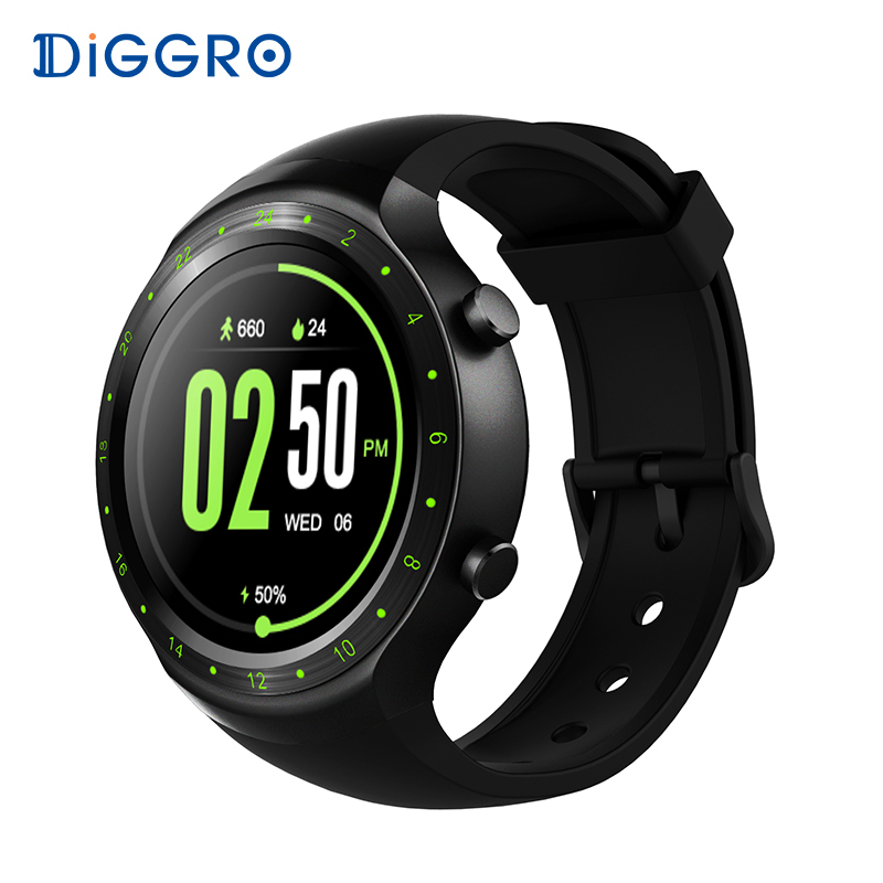 Diggro DI07 Android 5.1 Montre Smart Watch MTK6580 Bluetooth 4.0 RAM 512 MB ROM 8 GB Soutien 3G GPS WIFI Smartwatch pour IOS et Android