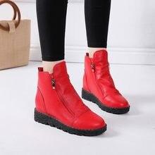 7f646954e Botas de invierno de moda para Mujer 2018 botas de tobillo para Mujer botas  de goma