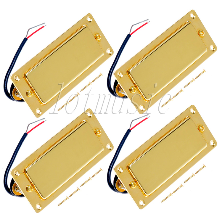 4Pcs Belcat BMH-80 Rohs Golded Humbucker Pickup Ferrite Mini Pickup Guitar Pickup For Electric Guitar Replacement belcat bass pickup 5 string humbucker double coil pickup guitar parts accessories black