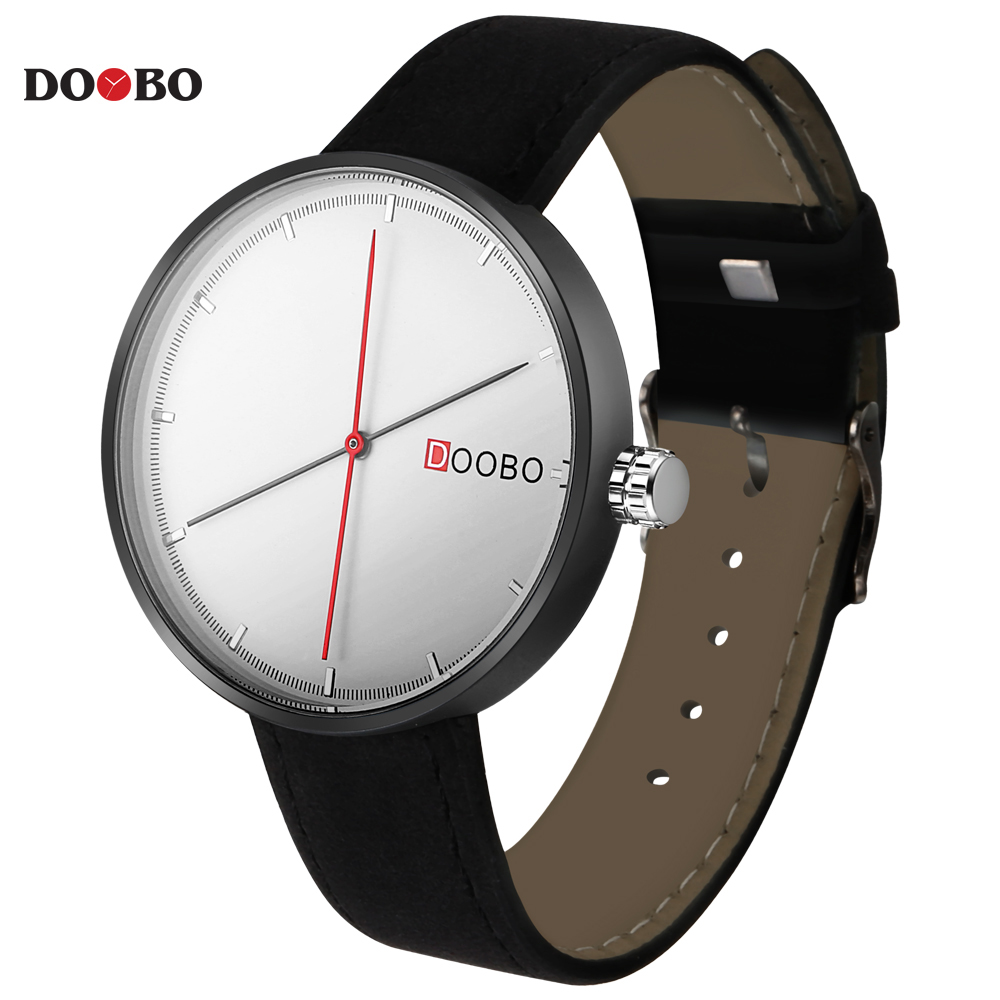 DOOBO D008 Men Watch Luxury Top Brand Famous Leather Black Quartz Men Wrist Watch Military Simple Watches Men Montre Homme montre homme doobo mens watches famous top brand luxury sports watch men quartz watch waterproof men clock business men watch