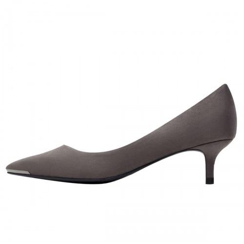 Grey Kitten Heel Pumps | Fs Heel